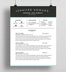 Creative Resume Template Cv Cover Letter Mac Or Pc Microsoft