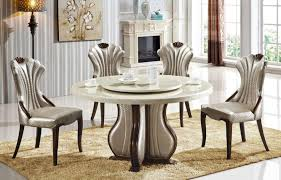 furniture alluring round marble top dining table round