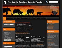 Safari In Africa Free Joomla 1 5 Template By Themza