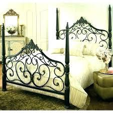 Wrought Iron Canopy Bed Frame Bedroom Sets Set Furniture L ...
