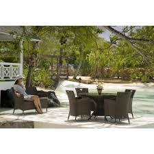 alexander rose ocean wave 4 seat round dining set