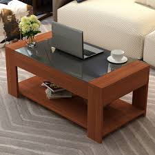 yameile tempered glass coffee table