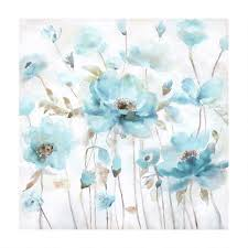 30 brown center blue flowers canvas wall art on canvas wall art blue flowers with 30 brown center blue flowers canvas wall art christmas tree shops
