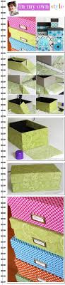 Decorative Fabric Storage Boxes One Yard Dcor Fabric Covered Boxes could also use shoe boxes 69
