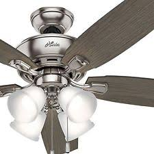 hunter ceiling fans. Hunter Fan 52 In. Brushed Nickel Ceiling With Four Dimmable LED Lights Hunter Ceiling Fans