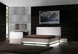 Modern Bedroom Light White Lacquer Modern Bedroom W Lights Optional Casegoods