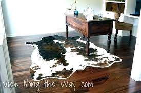 animal hide rug skin rugs on using a real or faux cowhide in home office ikea