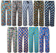 Character Pants Mens Character Pyjama Bottoms Novelty Lounge Pants Ex Store
