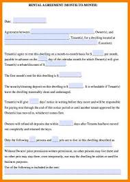 Month To Month Lease Agreement - Resume Template Ideas