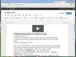 Hanging Indent Google Docs App Google Docs A Good Fit For Your