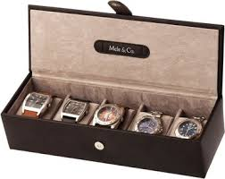 and co bonded leather watch box for men fits 5 watches black mele and co bonded leather watch box for men fits 5 watches black