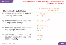 mathematics linear equations in two variables