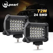 Security Lights For Cars Us 6 9 48 Off Nlpearl 4 7 72w 60w Car Light Assembly 36w Led Fog Lights For Trucks Cars Led Work Light Bar For Off Road Suv Boat 12v 24v In Car