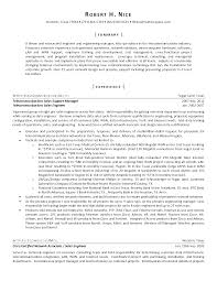 Telecom Resume Examples Brilliant Telecom Sales Resume for Tele Sales Sample Resume 25