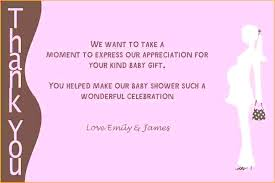 Baby Gift Thank You Note Baby Shower Thank You Note Samples Norseacademy