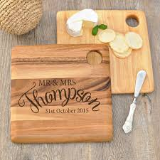 chopping board with name set gift personalised