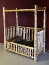 baby furniture images. Rustic Canopy Convertible Log Baby Crib Furniture Images
