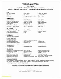 Resume For Actors Beginners Inspirational Resume Templates Actors
