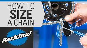 Chain Length Chart Inches How To Size A Bicycle Chain