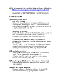 Examples Of Correct Forms For References Fill Online Printable