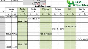 Schedule Maker Work Excel Work Schedule Maker 11 Junio Relitetri