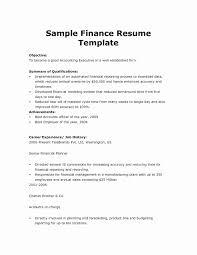 Finance Resume Sample Sample Science Resume