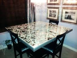 diy mirror mosaic table top kitchen color in accordance with broken mirror dining table top i