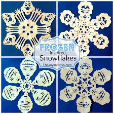 Frozen Snowflakes Inspired By Disneys Frozen The Joys Of Boys