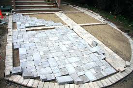 installing patio pavers installing installing brick pavers