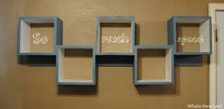 ... Ikea Wall Cube Shelves Grey Stained Wooden Shelf 5 Pieces Zigzag  Pattern Great Wall Cube Shelves ...