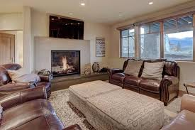 a seating area at luxury breckenridge vacation home
