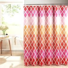 pink shower curtains pink shower curtains gateway lattice shower curtain with rings in pink blue shower pink shower curtains
