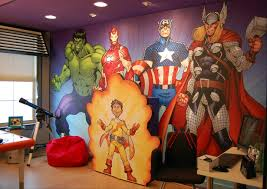 the  on marvel comics mural wall graphic with todd nauck s avengers mural for extreme makeover home editions