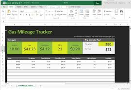 mileage calculator excel free gas mileage tracker for excel online