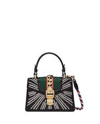 gucci bags india. sylvie mini embellished satin top-handle satchel bag gucci bags india
