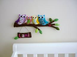 Owl Bedroom Personalised Owl Family Of Four Bedroom Door Sign Or Wall