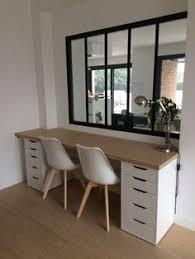 grey home office. Installation Du Plateau En Bois Et Montage Nouveau Bureau - Notre Maison Contemporaine DDN Grey Home Office
