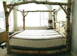 Diy Wood Canopy Bed Frame Wooden Queen Cheap Frames Full Size Of ...