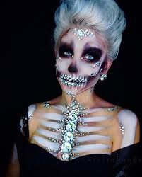 crystal skeleton my crystal skull makeup from yesterday i kept seeing the wigakeup manager s