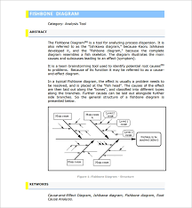 Cause And Effect Flow Chart Template Free 12 Sample Fishbone Diagram Templates In Pdf