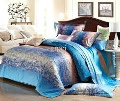 blue grey comforter stripe satin bedding set king size queen comforters sets duvet cover quilt bed