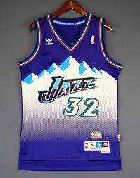 Men 32 Karl Malone Jersey Blue Utah Jazz Jersey Swingman