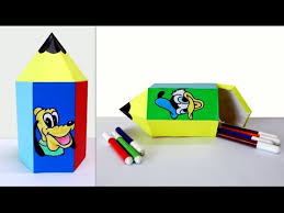 crafts for kids how to make a cute pencil shaped box fun crafts for kids you