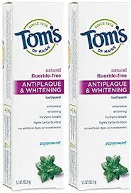Tom's of Maine Fluoride-Free Antiplaque & Whitening <b>Toothpaste</b>