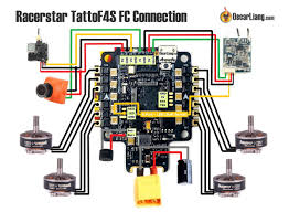 how to build a racing drone fpv mini quad beginner guide oscar liang if you are using the tattoo f4s fc here is the connection diagram