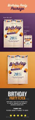 birthday flyer invitation by tokosatsu graphicriver