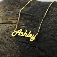 popular personalized gold necklace home decoration ideas color name