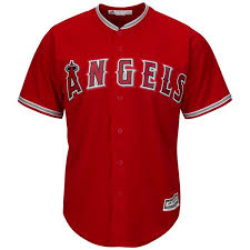 Scarlet - Jersey Base Player Mike Los Cool Majestic Angels Trout Angeles|Game Preview: Patriots Vs Redskins