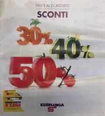 Volantino Esselunga - Sconti 30% 40% 50% Esselunga - agosto ...