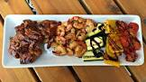 barbecued shrimp and chicken